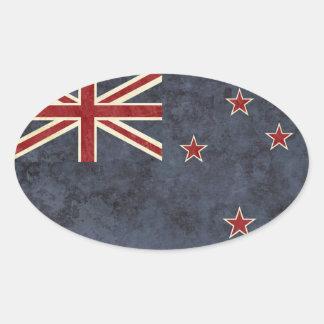 Etiquetas da bandeira de Nova Zelândia