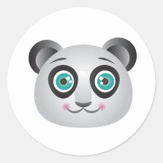 Etiquetas da cara da panda (fundo invisível)