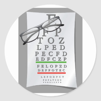 Etiquetas da carta do optometrista