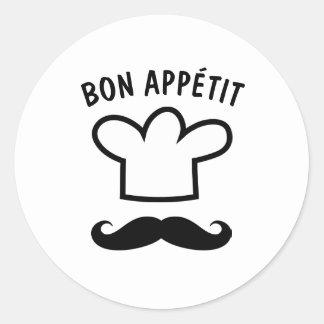 Etiquetas da comida do appétit do Bon com bigode