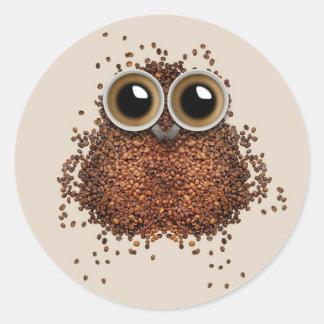 Etiquetas da coruja do café