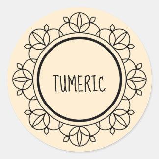Etiquetas da especiaria do Tumeric