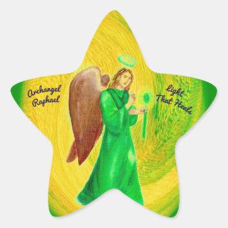 Etiquetas da estrela de Raphael do arcanjo