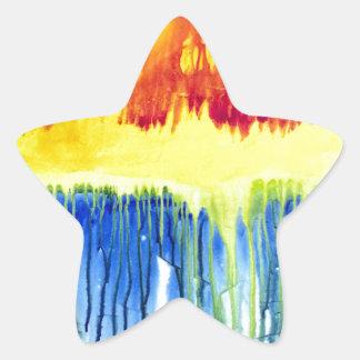Etiquetas da estrela do arco-íris! adesito estrela