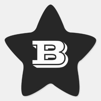 Etiquetas da estrela do preto da pia batismal da