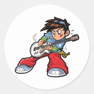 Etiquetas da estrela do rock do Anime