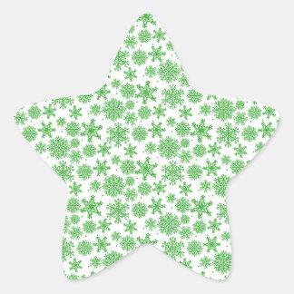 Etiquetas da estrela dos flocos de neve do Natal, Adesito Estrela
