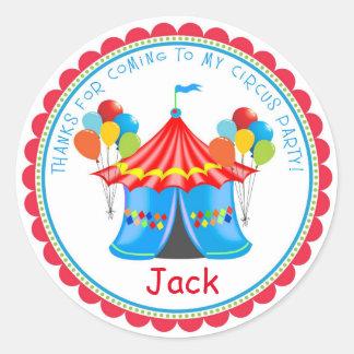 Etiquetas da festa de aniversário do carnaval do adesivo redondo