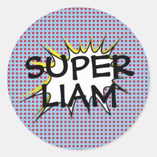 Etiquetas da festa de aniversário do super-herói