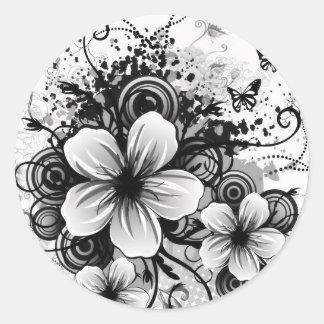 Etiquetas da flor