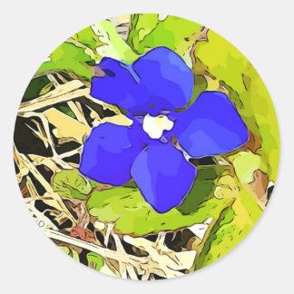 Etiquetas da flor da genciana dos azuis marinhos