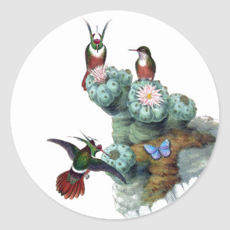 Etiquetas da flor dos animais selvagens do pássaro