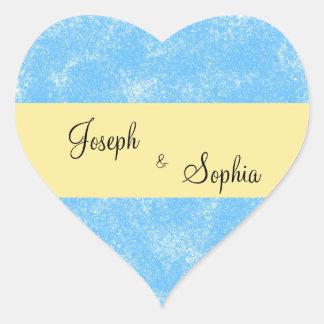 Etiquetas da forma do coração do noivo & da noiva