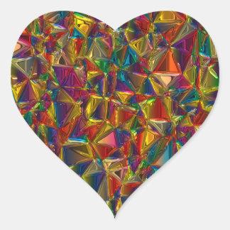 Etiquetas da forma do coração do vitral do