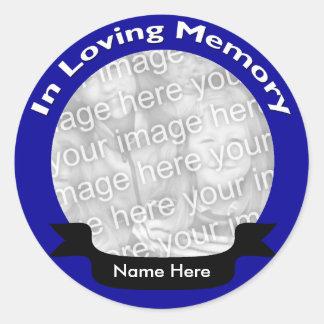 Etiquetas da foto adesivo redondo