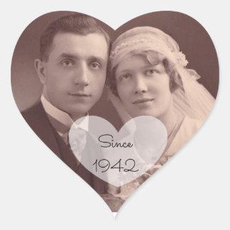 Etiquetas da foto do casamento vintage da etiqueta
