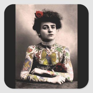 Etiquetas da fotografia do vintage da mulher do