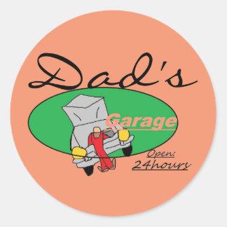 Etiquetas da garagem do pai adesivo
