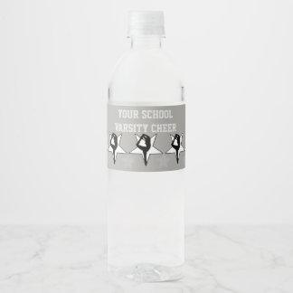 Etiquetas da garrafa de água do cheerleader