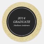 Etiquetas da graduação da coleção | do brilho adesivos em formato redondos