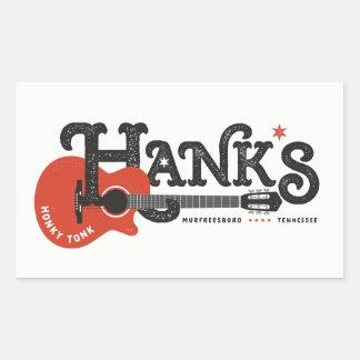 Etiquetas da guitarra de Hank