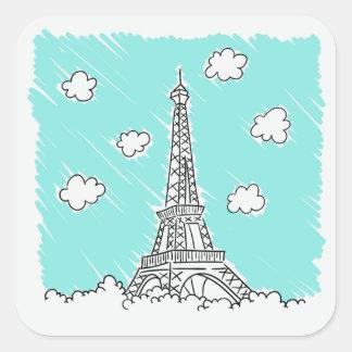 Etiquetas da ilustração da torre Eiffel