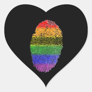 Etiquetas da impressão digital do arco-íris