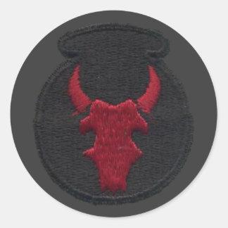 Etiquetas da infantaria de Red Bull Adesivo Redondo