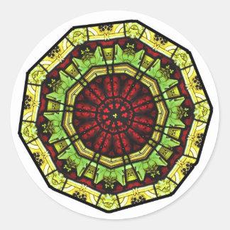 Etiquetas da mandala da janela de vitral adesivo