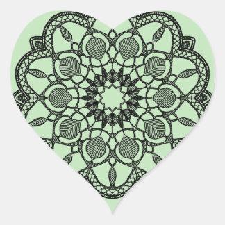 Etiquetas da mandala do coração