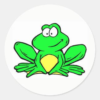 Etiquetas da mascote do sapo de Kenwood - redondas