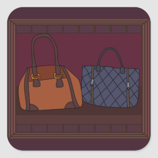 Etiquetas da montra do boutique da bolsa