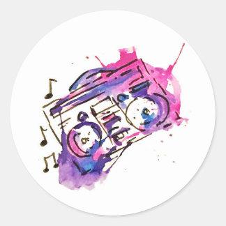 Etiquetas da música adesivo