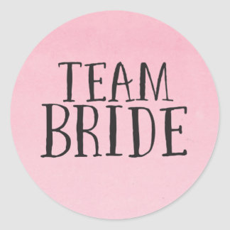 Etiquetas da noiva da equipe