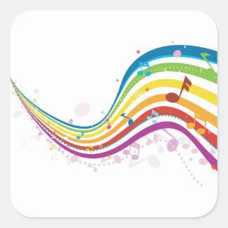 Etiquetas da onda da música do arco-íris