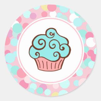 Etiquetas da padaria do cupcake do aniversário do