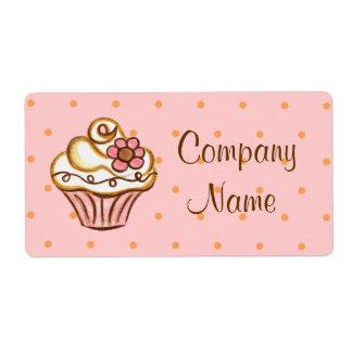 Etiquetas da padaria do negócio do cupcake etiqueta de frete