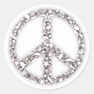 Etiquetas da paz da praia adesivo