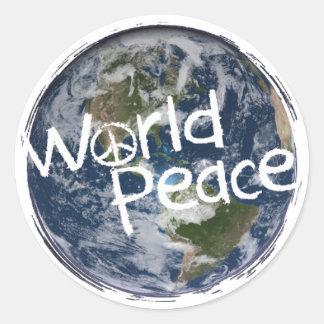 Etiquetas da paz de mundo