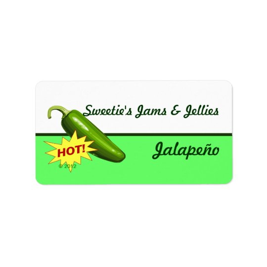 Etiquetas da pimenta de Jalapeño Etiqueta De Endereço