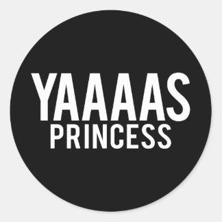Etiquetas da princesa impressão branco de Yas