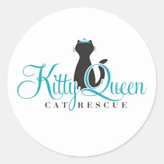 Etiquetas da rainha do gatinho