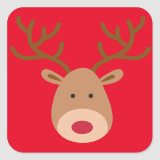 Etiquetas da rena do Natal - folha de 20