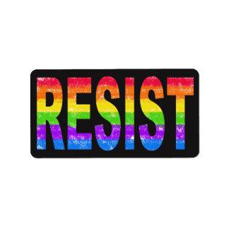 Etiquetas da resistência do orgulho do arco-íris