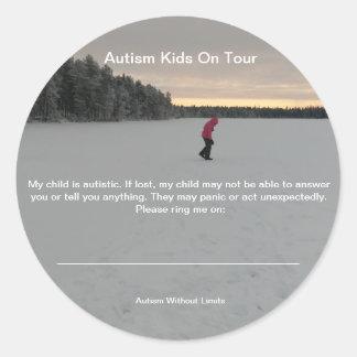 Etiquetas da segurança do autismo