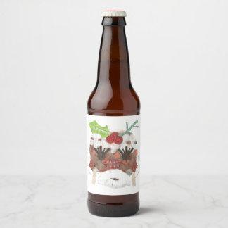 Etiquetas da Senhora Pudim Nenhum Fundo Cerveja