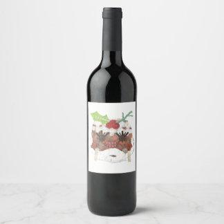 Etiquetas da Senhora Pudim Nenhum Fundo Vinho