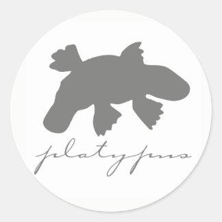 Etiquetas da silhueta de Platypus