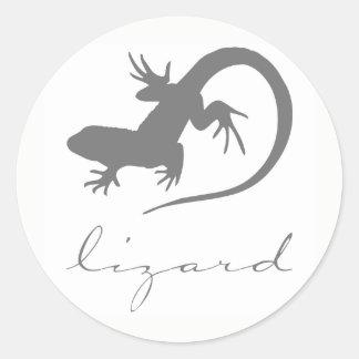 Etiquetas da silhueta do lagarto