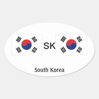 Etiquetas da SK (Coreia do Sul) Adesivos Oval